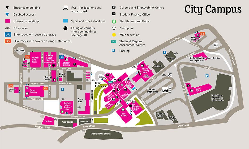 Where can I eat on campus Sheffield Hallam University